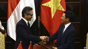 Bộ trưởng Ngoại giao Việt Nam và người đồng cấp Indonesia đã có cuộc họp song phương vào ngày hôm qua 25/7 tại Hà Nội.